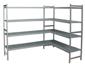 aluminium stelling in L vorm