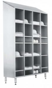 Open RVS kledingkast