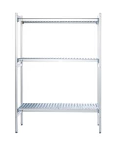 aluminium stelling 3 schappen